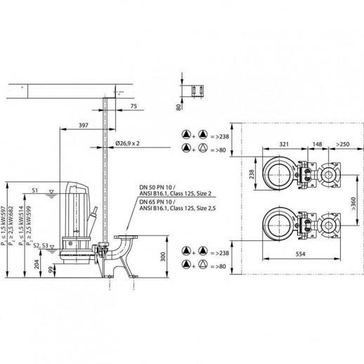 Фекальный насос WILO Rexa PRO C05DA-322/EAD1X2-T0011-540-O арт. 6076425