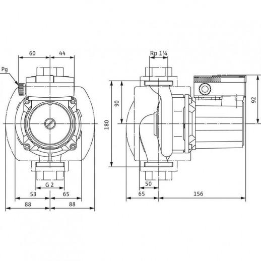 Циркуляционный насос WILO TOP-S 30/4 (1~230 V, PN 10) арт. 2044011