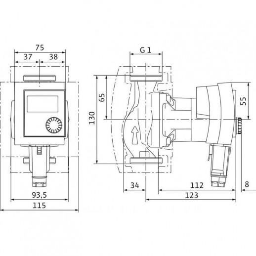 Циркуляционный насос WILO Stratos PICO 15/1-4 арт. 4132460