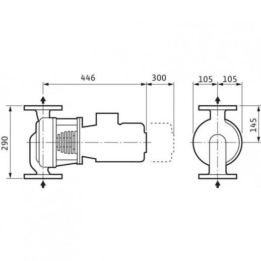 Циркуляционный насос с сухим ротором в исполнении Inline WILO VeroLine-IPH-O 20/160-1,1/2 арт. 2121295