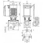 Циркуляционный насос с сухим ротором в исполнении Inline с фланцевым соединением WILO CronoLine-IL-E 40/200-7,5/2-R1 арт. 2159363