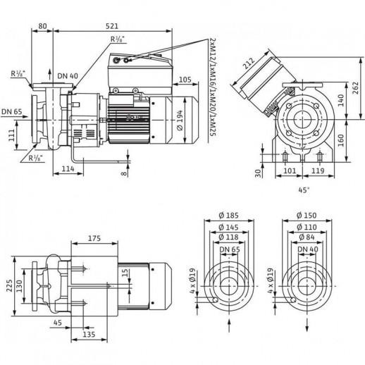 Блочный насос WILO CronoBloc-BL-E 40/130-3/2-R1 арт. 2159705