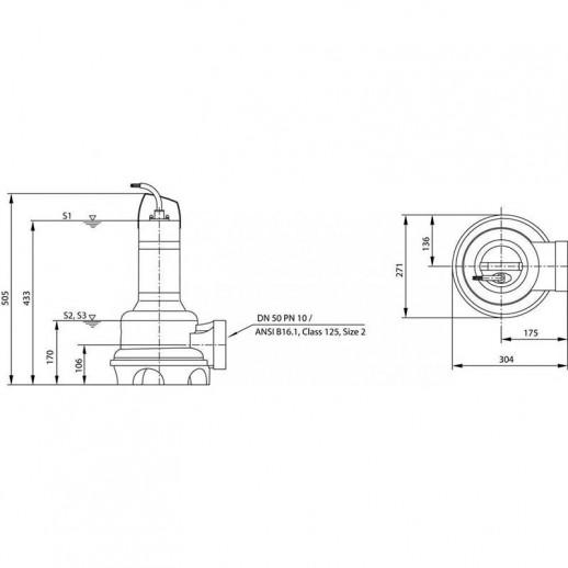 фекальный насос WILO Rexa UNI V05/M04-523/P арт. 6082113
