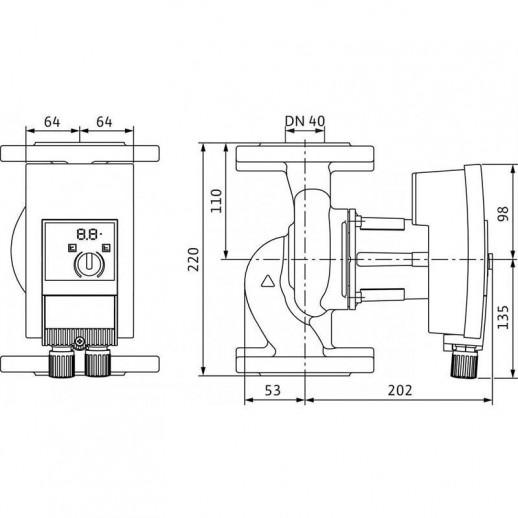 Циркуляционный насос WILO Yonos MAXO-Z 40/0,5-8 арт. 2175542