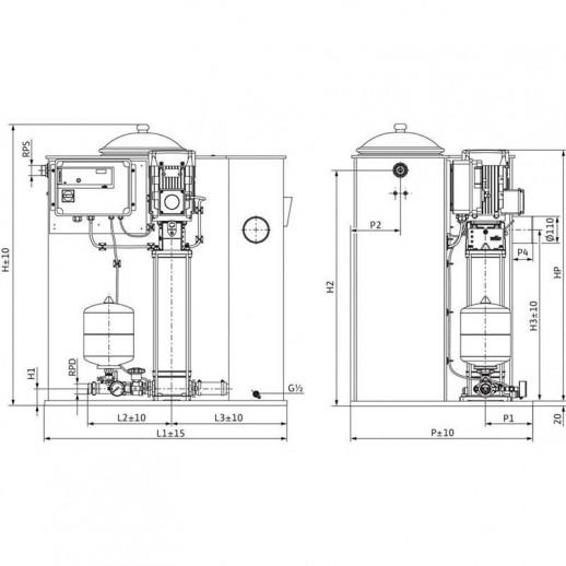 Насосная станция WILO Economy CO/T-1 Helix V 407/CE арт. 2545683