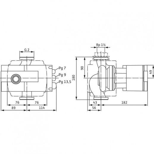 Циркуляционный насос WILO Stratos 30/1-4 PN6/10 арт. 2104226