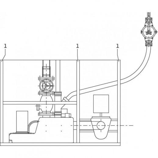 Напорная установка отвода сточной воды WILO DrainLift S 1/6T (3~) арт. 2544861