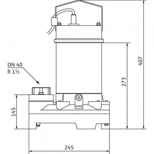 Погружной насос для сточных вод WILO TS 40/10A 1-230-50-2-10M KA арт. 2063926