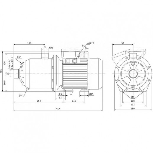 Поверхностный насос WILO MultiPress MP 605 IE3 (3~230/400 В) арт. 4210864