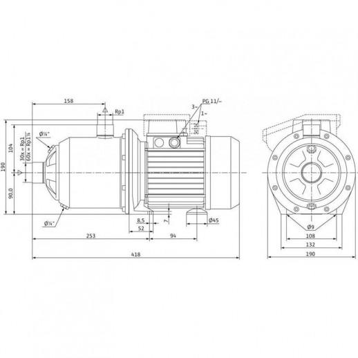 Поверхностный насос WILO MultiPress MP 304 (3~230/400 В) арт. 4033355