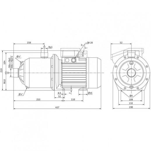 Поверхностный насос WILO MultiPress MP 604 IE3 (3~230/400 В) арт. 4210857