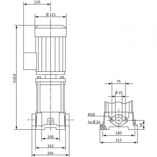 Вертикальный многоступенчатый насос WILO Multivert MVIL 103 (3~400 В) арт. 4087721