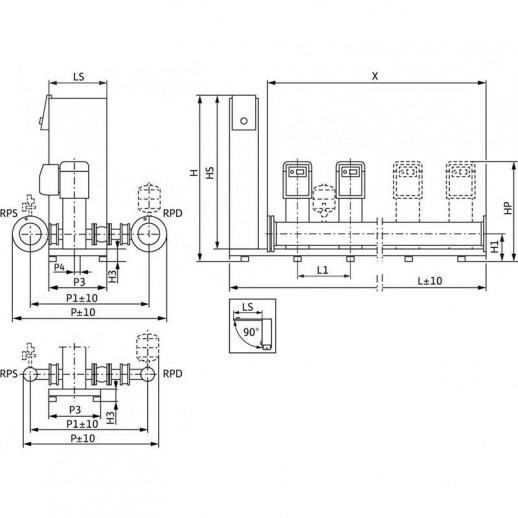 Насосная станция WILO SiBoost Smart 2 Helix EXCEL 606 арт. 2537641