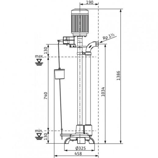 Вертикальный насос для грязной воды WILO Drain VC 40/20 (3~400 В) арт. 2044584