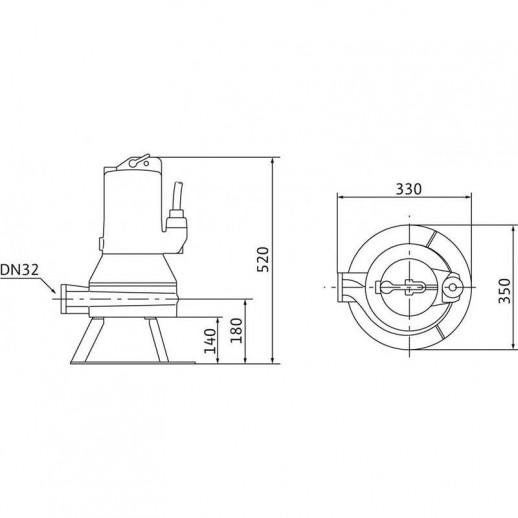Погружной насос для сточных вод WILO Drain MTC 32F39.16/30 (3~400 В) арт. 2081263