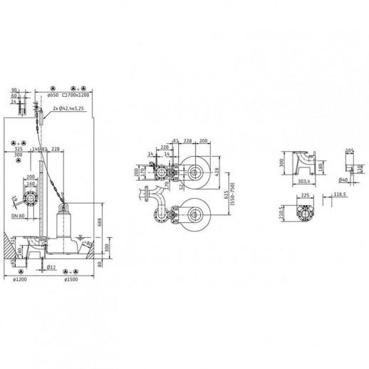 Погружной насос для сточных вод WILO Drain TP 80E210/37 арт. 6043971