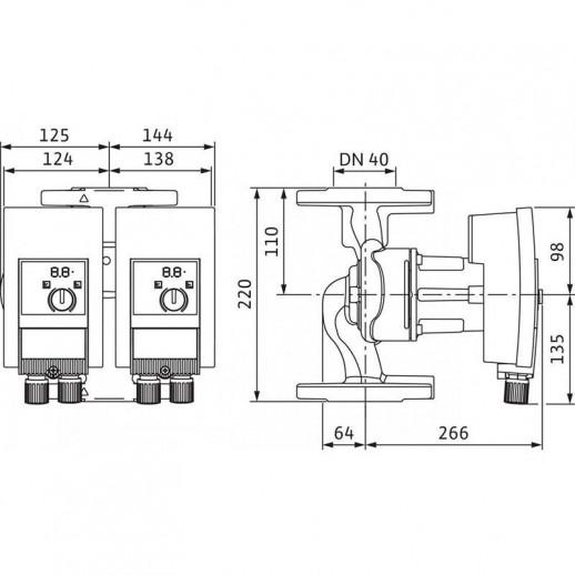 Циркуляционный насос WILO Yonos MAXO-D 40/0,5-8 арт. 2120664