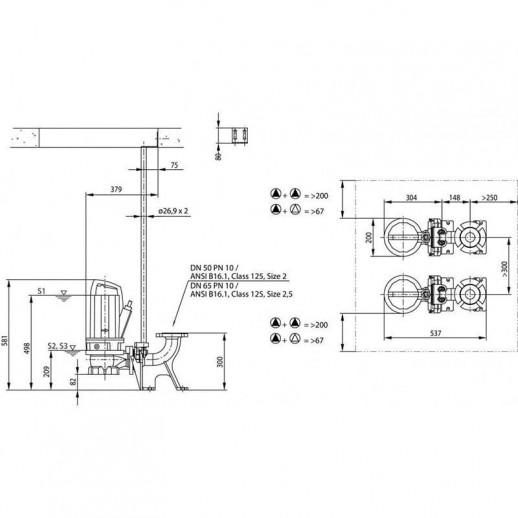 Фекальный насос WILO Rexa PRO V05DA-122/EAD1X2-T0011-540-O арт. 6064719