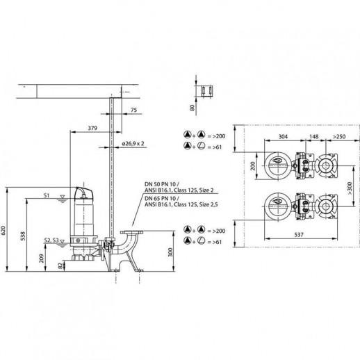 Фекальный насос WILO Rexa FIT V05DA-124/EAD0-2-M0011-523-A арт. 6064580