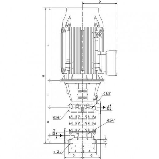 Нормальновсасывающий высоконапорный центробежный насос WILO Zeox FIRST V 6003/A-37-2 арт. 4191942