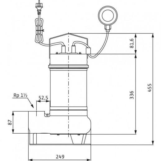 Погружной насос для сточных вод WILO Drain STS 40/8-A (1~230 В) арт. 2065868