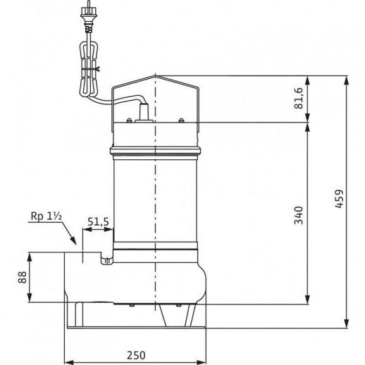 Погружной насос для сточных вод WILO Drain STS 40/10 (1~230 В) арт. 2065872