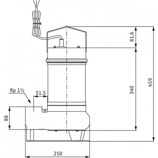 Погружной насос для сточных вод WILO Drain STS 40/10 (3~400 В) арт. 2065876