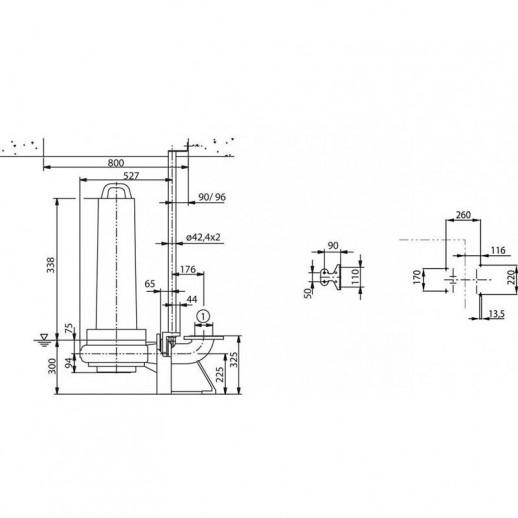 Фекальный насос WILO EMU FA 10.41-193E + T 17-4/8HEx арт. 6047688