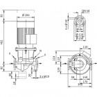Циркуляционный насос с сухим ротором в исполнении Inline с фланцевым соединением WILO CronoLine-IL 40/140-0,25/4 арт. 2786162